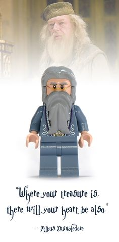 Dumbledore Lego Minifigure - Harry Potter Collectibles