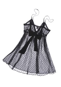 Rendered in sheer mesh, this retro-inspired Only Hearts chemise is patterned with sweet polka dots. A chiffon bow accents the bust, enhancing the piece's vintage charm. Rounded hem. Scalloped edges.