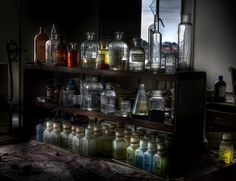 Abandoned laboratory-- .........Dr. Frankenstein's Lab?................... ........Dr. Jekyll & Mr. Hyde's Lab?.............