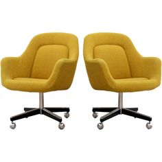 Office Chairs Designed by Max Pearson for Knoll, ca. 1970s at 1stdibs