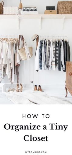 Tips for making the most of a small closet space