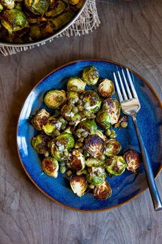 Roasted brussel sprouts with capers