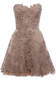 British Palace Embroidered Lace Flowers Women's Strapless Dress 10726660 - Little Party Dress - Dresswe.Com