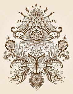 henna mehndi tattoo doodles vector design elements — Stock Vector © blue67 #11800105