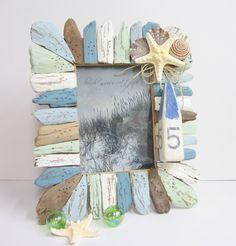 Seashell Frames, Idea, Decoration Driftwood, Beach Decor, Driftwood Crafts, Beaches Decoration, Driftwood Frames, Driftwood Seashell, Shells Frames