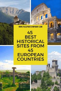 45 important historical sites in Europe | One site from every country