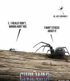 Antman vs Black Widow ... Civil War