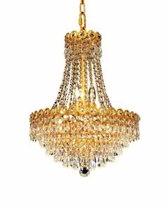 745a57b2f4e5 Century 8 Light Crystal (Clear) Chandelier in Gold Finish 1902D16G EC