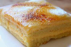 Es un honor mostraros cómo hacer en casa uno de los postres más tradicionales de toda la provincia de Segovia, nos referimos al mítico e i... Sweet Cooking, Cooking Chef, Cheesecake Recipes, Dessert Recipes, Spanish Desserts, Delicious Deserts, Pan Dulce, Crazy Cakes, Almond Cakes