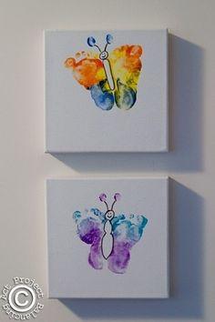 Footprint Butterflies....perfect Mothers Day Gift kindergarten-crafts