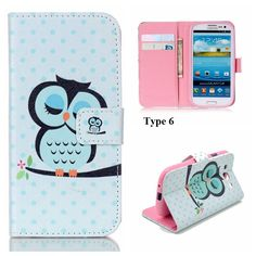 Art Painting Owl Flower Wallet Flip Leather Cover Soft Case For Samsung GalaxyS7