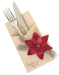 Ideas for your dies: diamonds Florilèges Design Christmas Treats For Gifts, Boxed Christmas Cards, Christmas Holidays, Christmas Crafts, Christmas Ornaments, Xmas Table Decorations, Deco Table Noel, Cutlery Holder, Quilling Paper Craft