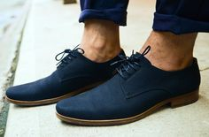 Fancy - Naval Oceano Shoes by The Generic Man. LOVE blue suede shoes - don't forget there are girl styles too.