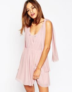 ASOS WEDDING Multiway Mesh Mini Dress