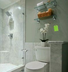 glass shelf over toilet - Bathroom Glass Shelves