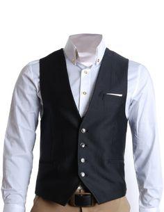 FLATSEVEN Mens Slim Fit Business Casual Premium Vest Waistcoat (VE201) Black, Size XL FLATSEVEN http://www.amazon.com/dp/B008RMGZB6/ref=cm_sw_r_pi_dp_3ZW2ub12FWYNK #FLATSEVEN #Mens #Slim Fit #Casual #Premium #Vest #coat