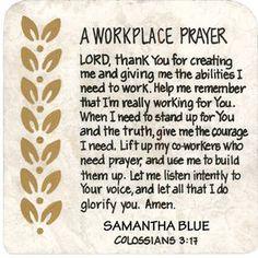 Résultats de recherche d'images pour « prayer for the working place »