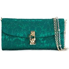 Dolce & Gabbana 'Dolce' clutch ($1,485) ❤ liked on Polyvore featuring bags, handbags, clutches, green, blue clutches, dolce gabbana purses, cotton handbags, blue handbags and blue purse