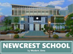 Stunning school inspired by The Sims This school works for elementary and high school, is fully furnished and decorated. With three floors, there is plenty for your Sims to do. Found in TSR Category 'Sims 4 Community Lots' Sims 4 Mods, Pelo Sims, The Sims 4 Lots, Sims 4 Gameplay, Casas The Sims 4, Sims Building, Sims4 Clothes, Sims 4 Build, Sims Community