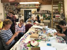 Gorgeous girls sewing at the @cowslipworkshops workshop. @libertylindylou @rosieposie1955