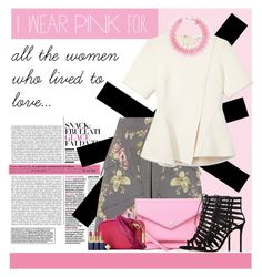 """October is #breastcancerawareness month."" by julietacelina on Polyvore featuring McQ by Alexander McQueen, Alexander Wang, Marc by Marc Jacobs, Gianvito Rossi and Mary Katrantzou"