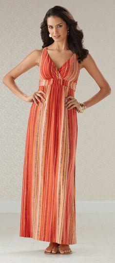 #Soma Britney Maxi Dress in Viva Orange #SomaIntimates
