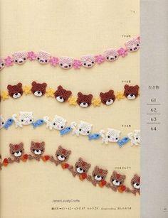 Crochet edging-would be so cute on a baby blanket! - must look for polar bear pattern Crochet Boarders, Crochet Edging Patterns, Crochet Motifs, Crochet Trim, Crochet Lace, Crochet Stitches, Blanket Crochet, Cross Stitches, Loom Patterns