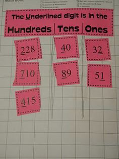 place value for math journals or math warmup