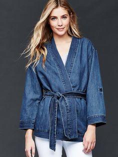 1969 denim kimono wrap jacket   Gap