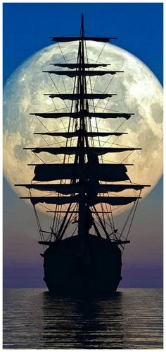 18 Ideas Pirate Boats Sailing For 2019 Pirate Boats, Old Sailing Ships, Ship Drawing, Ghost Ship, Moon Pictures, Beautiful Moon, Ship Art, Tall Ships, Pirates Of The Caribbean