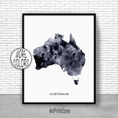 Australia Print, Australia Art Print, Home Decor, Australia Map Art, Wall Prints, Wall Art Home Wall Decor Watercolor Painting, ArtPrintZone #HomeDecor #WatercolorPainting #ArtPrint #ArtPrintZone #HomeWallDecor