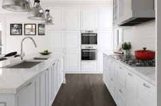 30 Must-See Painted Kitchen Cabinet Ideas - https://freshome.com/painted-kitchen-cabinet-ideas/