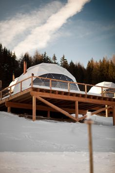 glamping ideas | glamping resort | Winter | Whitepod | Glamping.com