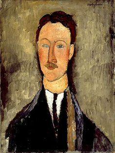 Modigliani, Amedeo (1884-1920) - 1918 Portrait of Leopold Survage