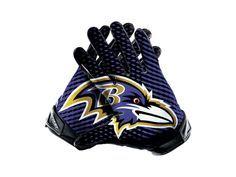 Nike Vapor Jet 2.0 (NFL Ravens) Men's Football Gloves