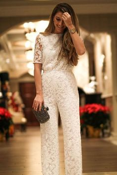 ideas for holiday party outfit work jumpsuit House Party Outfit, Holiday Party Outfit, Jumpsuit Elegante, Elegant Jumpsuit, Wedding Jumpsuit, Wedding Dress, Jumpsuit Outfit, Lace Jumpsuit, Lace Pants