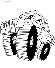 monster truck coloring page | free coloring sheet | trucj with ... - Monster Truck Coloring Pages Free