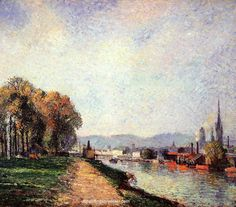 Camille Pissarro View of Rouen, 1883 painting sale sites, painting Authorized official website