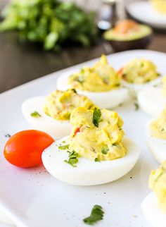 Deviled Guacamole Eggs