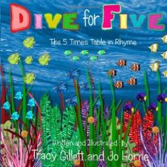 A picture book to help teach the 5 times table.