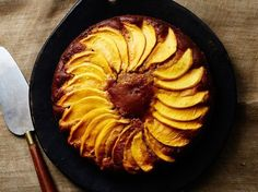 Grassy, tropical sweet mangoes add a new dimension of flavor to this warmly spiced pumpkin cake—a revelation a the end of a Thanksgiving meal.