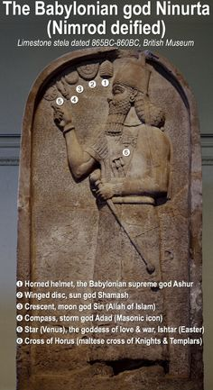 (Some of these identifications are questionable, e., storm god's emblem is not a compass but a lightning bolt) Ancient Aliens, Ancient Art, Ancient History, Nephilim Giants, 12 Tribes Of Israel, Ancient Near East, Ancient Mesopotamia, Archaeological Discoveries, Goddess Of Love