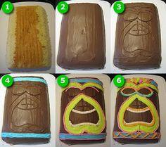 The Creative Cake Maker: Tiki Man Cake