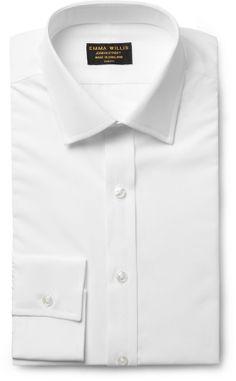 Emma Willis White Slim-Fit Cotton Shirt sur shopstyle.fr