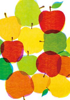 Kazuaki Yamauchi idea for kitchen blind, applique fruit and veg shapes Art And Illustration, Pattern Illustration, Textile Patterns, Print Patterns, Textiles, Design Art, Web Design, Print Design, Pattern Texture