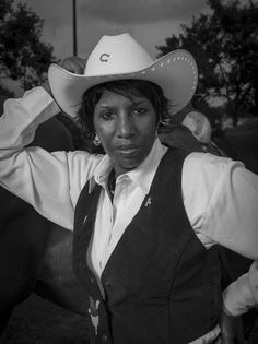 Stunning black-and-white images of ranchers, riders, calf ropers and herders. Stunning black-and-white images of ranchers, riders, calf ropers and herders. Black Cowgirl, Black Cowboys, Cowboy And Cowgirl, Women In History, Black History, Gil Scott Heron, The Lone Ranger, Black N White Images, Black Art