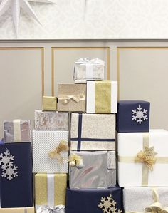 Stylish, Unexpected Ways to Display Christmas Gifts