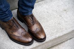 every man needs a pair of classic brown leather shoes