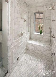 17 trendy bathroom remodel shower walk in marbles Bathroom Floor Tiles, Modern Bathroom, Small Bathroom, Bathroom Marble, Tile Grout, Shower Tiles, Room Tiles, Bathroom Cabinets, Shower Grout