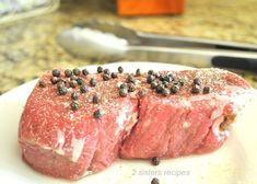Filet Mignon with Cognac Peppercorn Sauce - 2 Sisters Recipes by Anna and Liz Filet Mignon Sauce, Filet Mignon Roast, Grilling The Perfect Steak, How To Grill Steak, Steak Recipes, Sauce Recipes, Boneless Ribeye Steak, Creamy Peppercorn Sauce, Best Meat Dishes